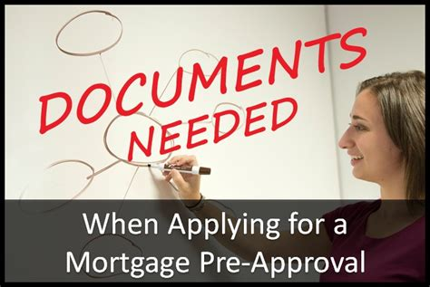 common documents needed  applying  mortgage pre