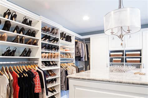 custom walk  closets design home storage solutions