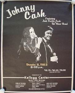 Johnny Cash Poster : johnny cash michigan 1983 original concert poster ebay ~ Buech-reservation.com Haus und Dekorationen