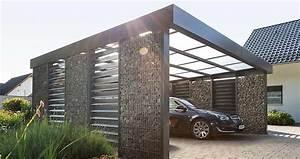 Aluminium Carport Mit Abstellraum : gabionen carport steelmanufaktur ~ Markanthonyermac.com Haus und Dekorationen