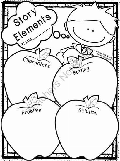 Story Organizer Elements Graphic Reading Apple Fiction