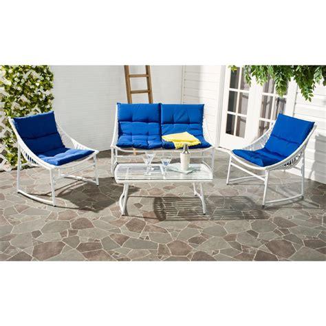 safavieh berkane 4 patio seating set with navy