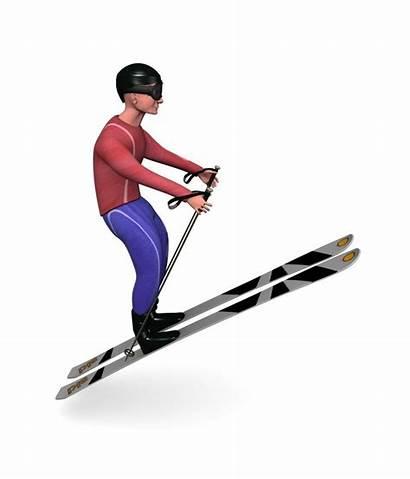 Skier 3d Polygonal Models Turbosquid Render