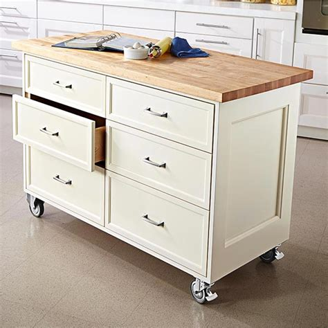rolling kitchen island woodworking plan from wood magazine