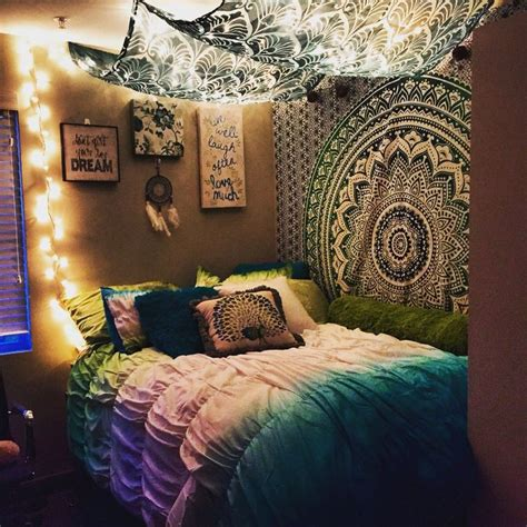 tapestry bedroom ideas college apartment bedroom stringlights tapestry livin