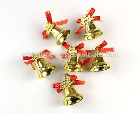 small decorative gold plastic christmas bells buy small