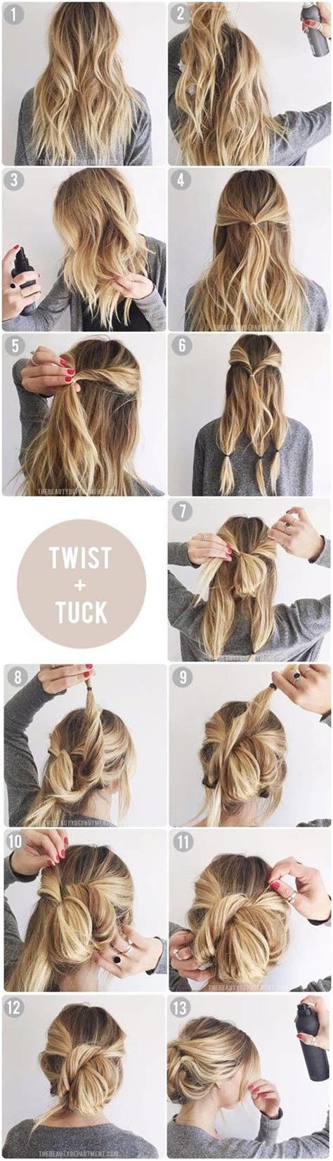 Easy Updo Hairstyle Tutorials by Top 10 Updo Tutorials For Different Hair Lengths