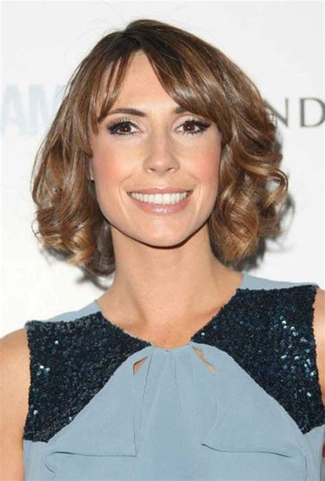 short brown curly hair short hairstyles