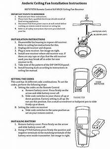 Uc7051r Replacement Ceiling Fan Receiver For Hampton Bay