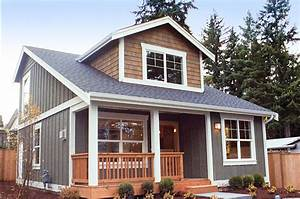 Small, House, Plan, With, Two, Exterior, Choices, -, 2395jd