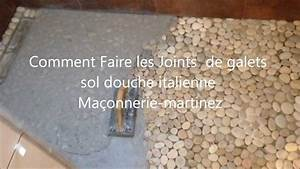 comment faire les joints de galets sol douche italienne With carrelage sol douche italienne