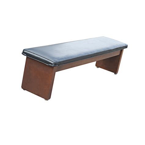 Padded Wooden Bench 72 quot black padded wooden bench