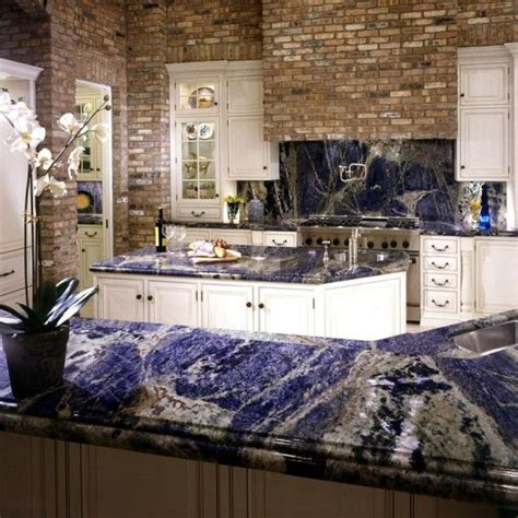 Blue Countertop Kitchen Ideas by Sodalite Blue Granite Countertops And Backsplash