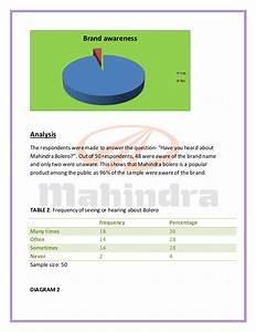 Marketing Strategies And Consumer Behaviour Study For Mahindra Bolero