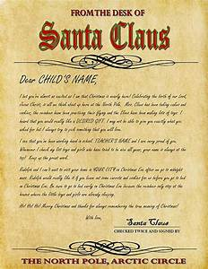 2014 With santa letters from the north pole personalized