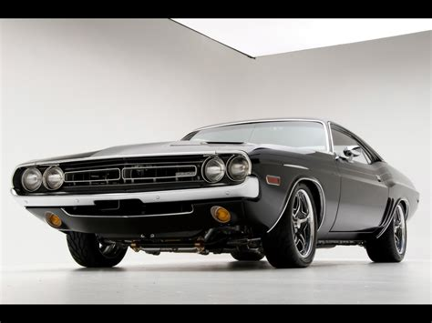 lowered muscle cars 1971 dodge challenger r t muscle car by modern muscle