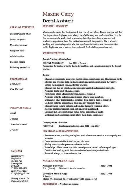 20674 dental assistant resume template dental assistant resume dentist exle sle
