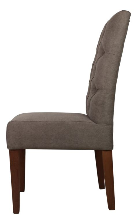 stoel hout stof stoel cambridge taupe capiton hout stof