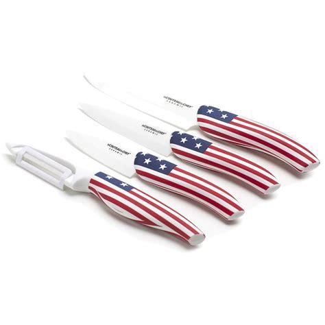 set de couteau de cuisine set de 4 couteaux de cuisine flag pays lame en céramique