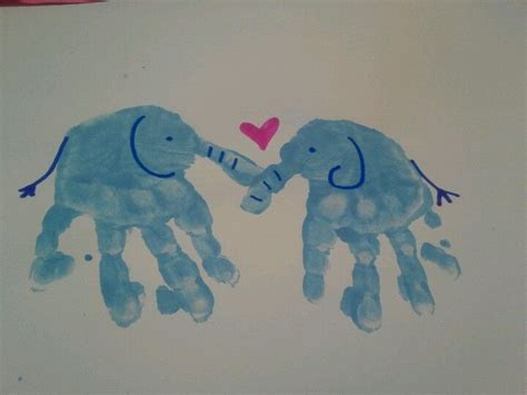 elephant hand print lovetoddlers art   kids