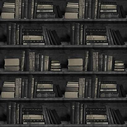 Bookshelf Dark Bookcase Mineheart Wal Sample Tapet