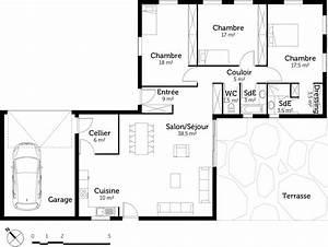 resultat de recherche d39images pour quotplan maison plain With plan maison plain pied 5 chambres
