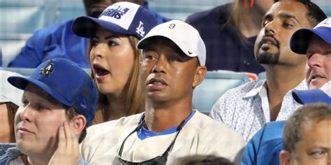 Tiger's reaction to the Los Angeles Dodgers winning their ...