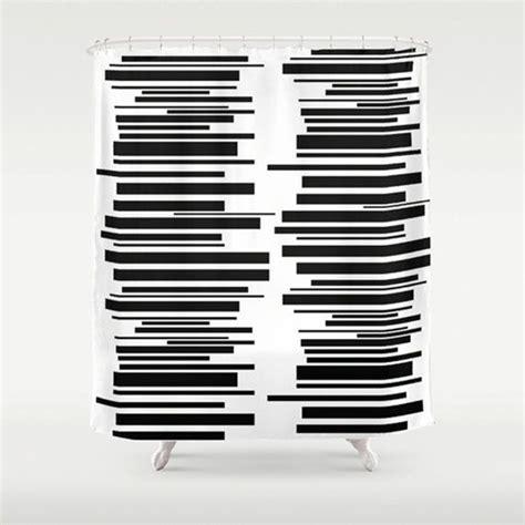 Shower Curtain Mid Century Modern Black