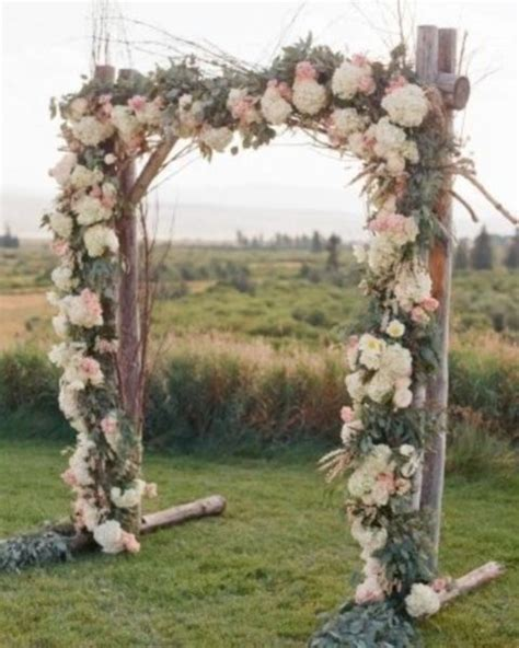 Lush Floral Rustic Outdoor Summer Wedding Arch
