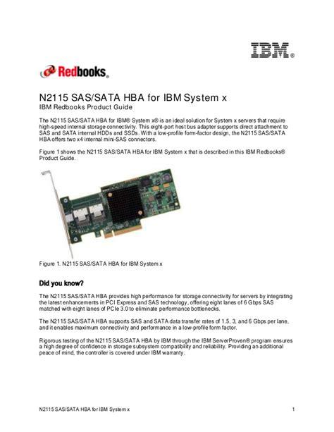 n2115 sas sata hba for ibm system x