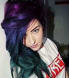 Bleu Vert Couleur : les cheveux galaxy la tendance coiffure qui cartonne ~ Melissatoandfro.com Idées de Décoration