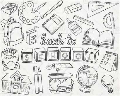 Doodle Clipart Supplies Svg Drawn Doodles Pack