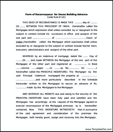 Deed Of Conveyance Template by Contract For Deed Template Minnesota Templates Resume
