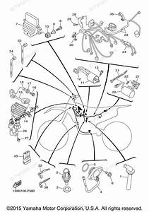 Yamaha Motorcycle 2015 Oem Parts Diagram For Electrical