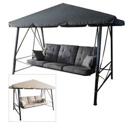 Patio Swings With Canopy Walmart by Gazebo 3 Person Swing Rus473c Replacement Cushion Garden Winds