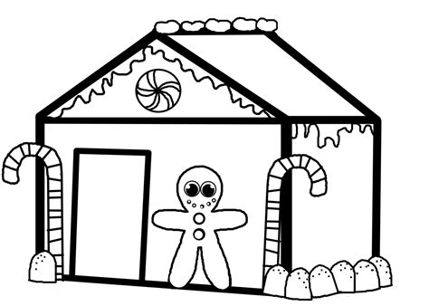 Coloring House by Gingerbread House Coloring Pages Coloringsuite