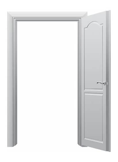 Door Open Clipart Clip Transparent Porte Half