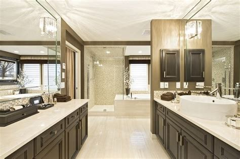 Cream And Earth Tone Bathroom  Contemporary Bathroom