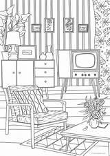 Living Adult Coloring Printable Retro Adults Etsy Favoreads Sheets Coloriage Produit Vendu Par Designs продавец sketch template