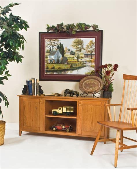 60 Tv Credenza - handmade 60 inch shaker tv credenza cherry by