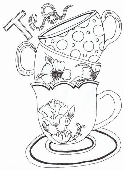 Alice Wonderland Drawing Teacup Cups Getdrawings