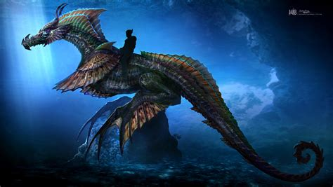 aquaman  feature  massive sea dragon