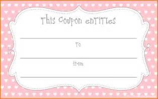 Blank Coupon Templates Printable Free