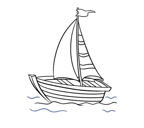 Boat Drawing Lines by How To Draw A Boat In A Few Easy Steps Easy Drawing Guides