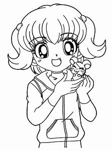 Anime Animals Coloring Pages For Adults - AZ Coloring Pages