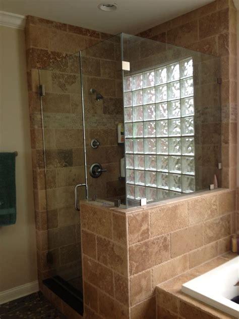 travertine tile shower tiled showers pinterest