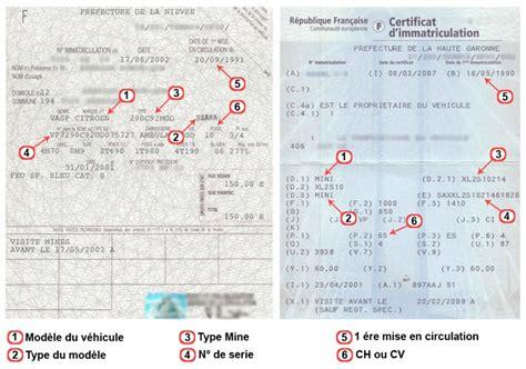 modele voiture carte grise remplir certificat dimmatriculation