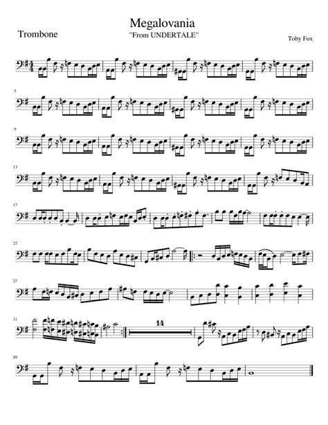 There are 7 positions on the slide trombone. Megalovania Trombone sheet music for Trombone download free in PDF or MIDI