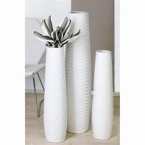 Bodenvase Weiss 80 Cm : 2er set bodenvasen catania keramik matt wei h 59 77cm casablanca ebay ~ Bigdaddyawards.com Haus und Dekorationen
