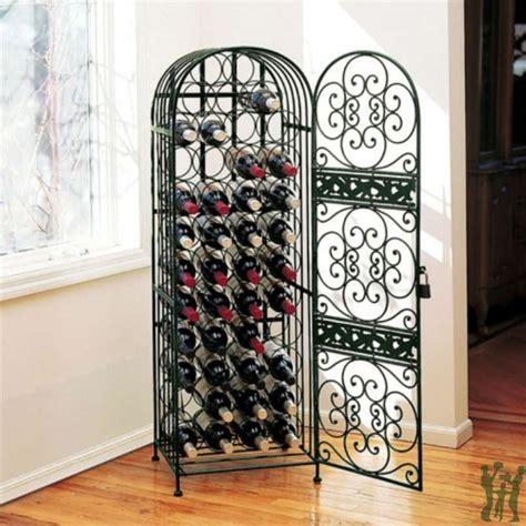 iron wine rack renaissance wrought iron wine free standing wine racks